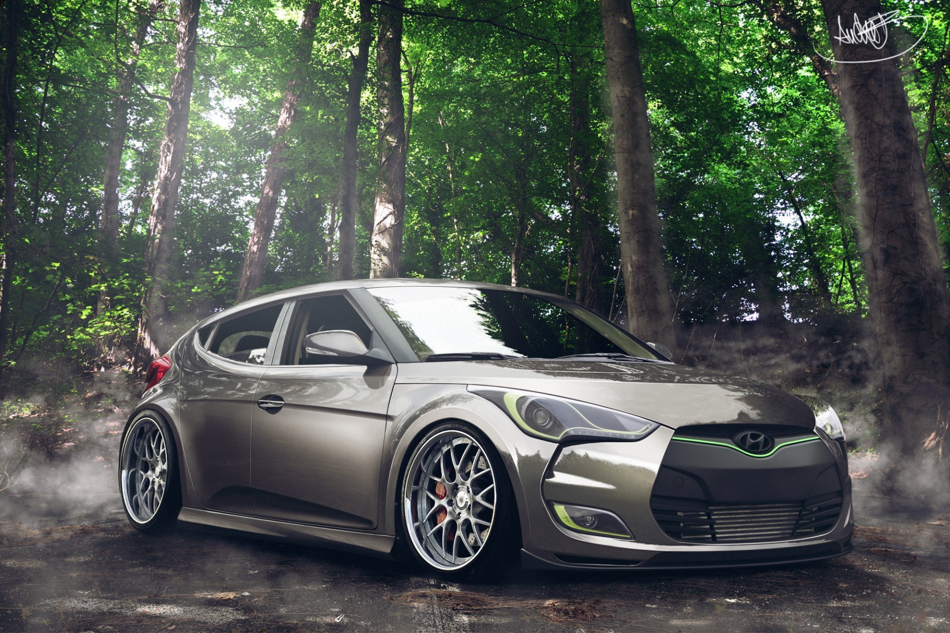 hyundai veloster tuning by asoares HD wallpaper 1920x1280
