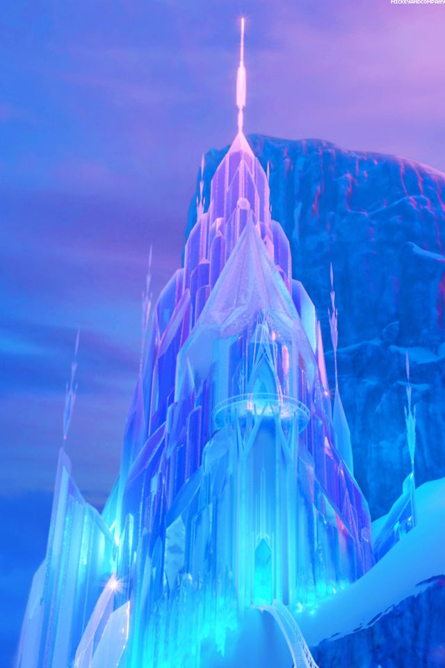 Backgrounds Castles Frozen Disney Wallpaper Ice Castles Elsa 640x960