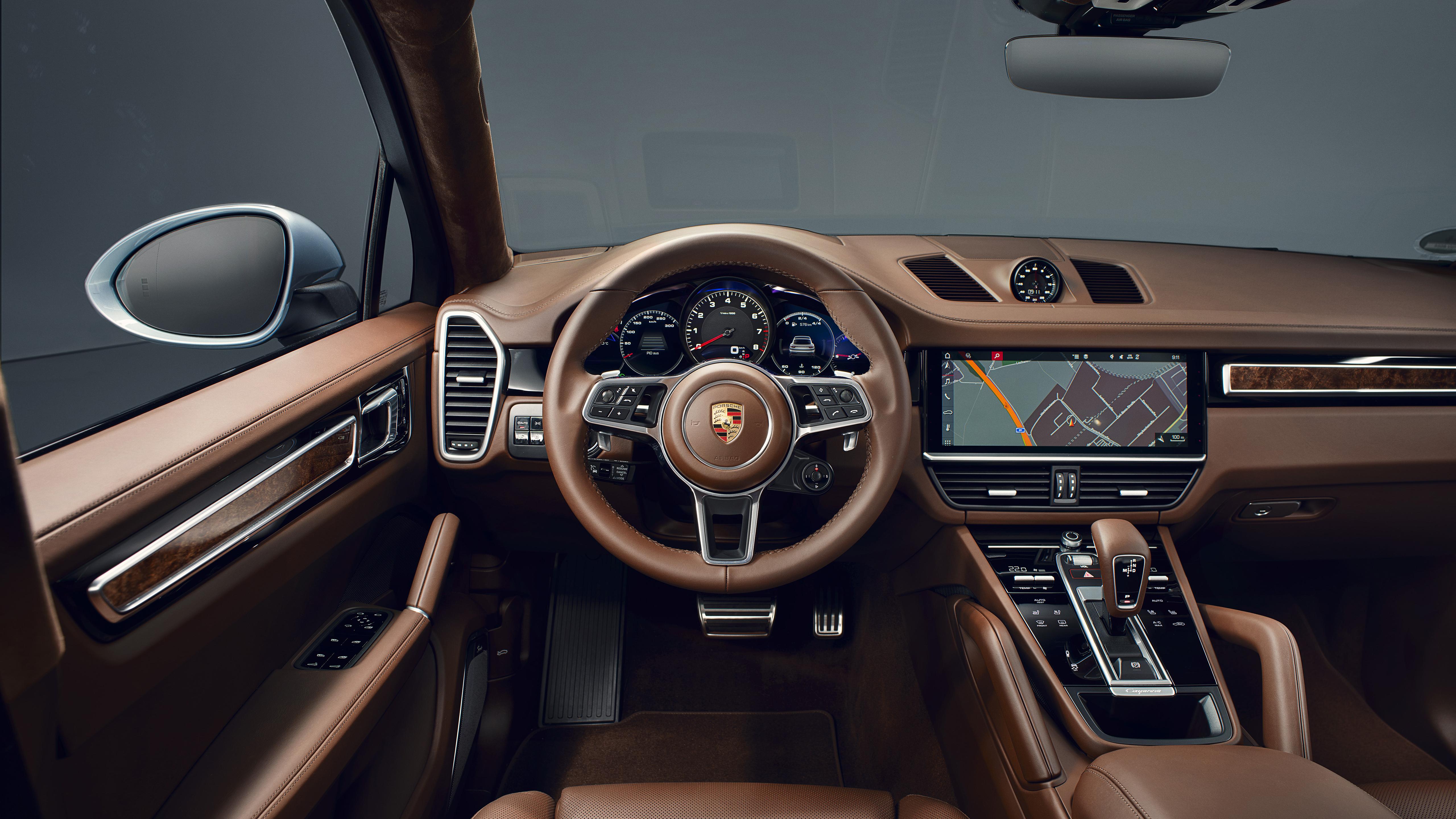 Porsche Cayenne S Coupe 2019 Interior 5K Wallpaper HD Car 5120x2880