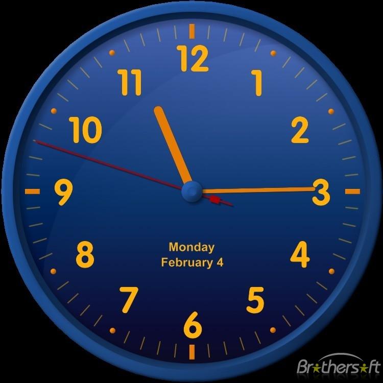big analog clock for desktop download 750x750