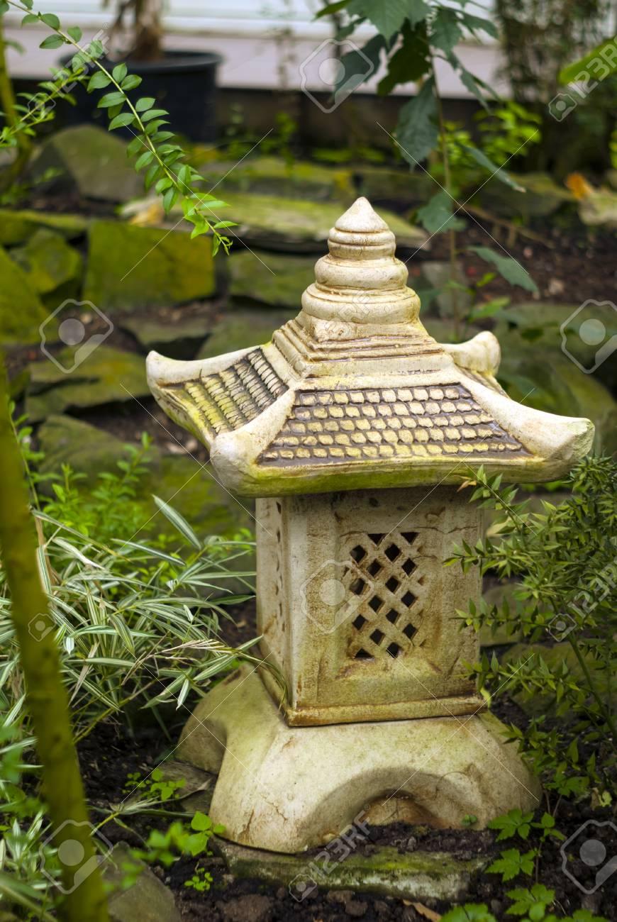 Decorative Garden Lantern Toro In Japanese Style On The Background 870x1300