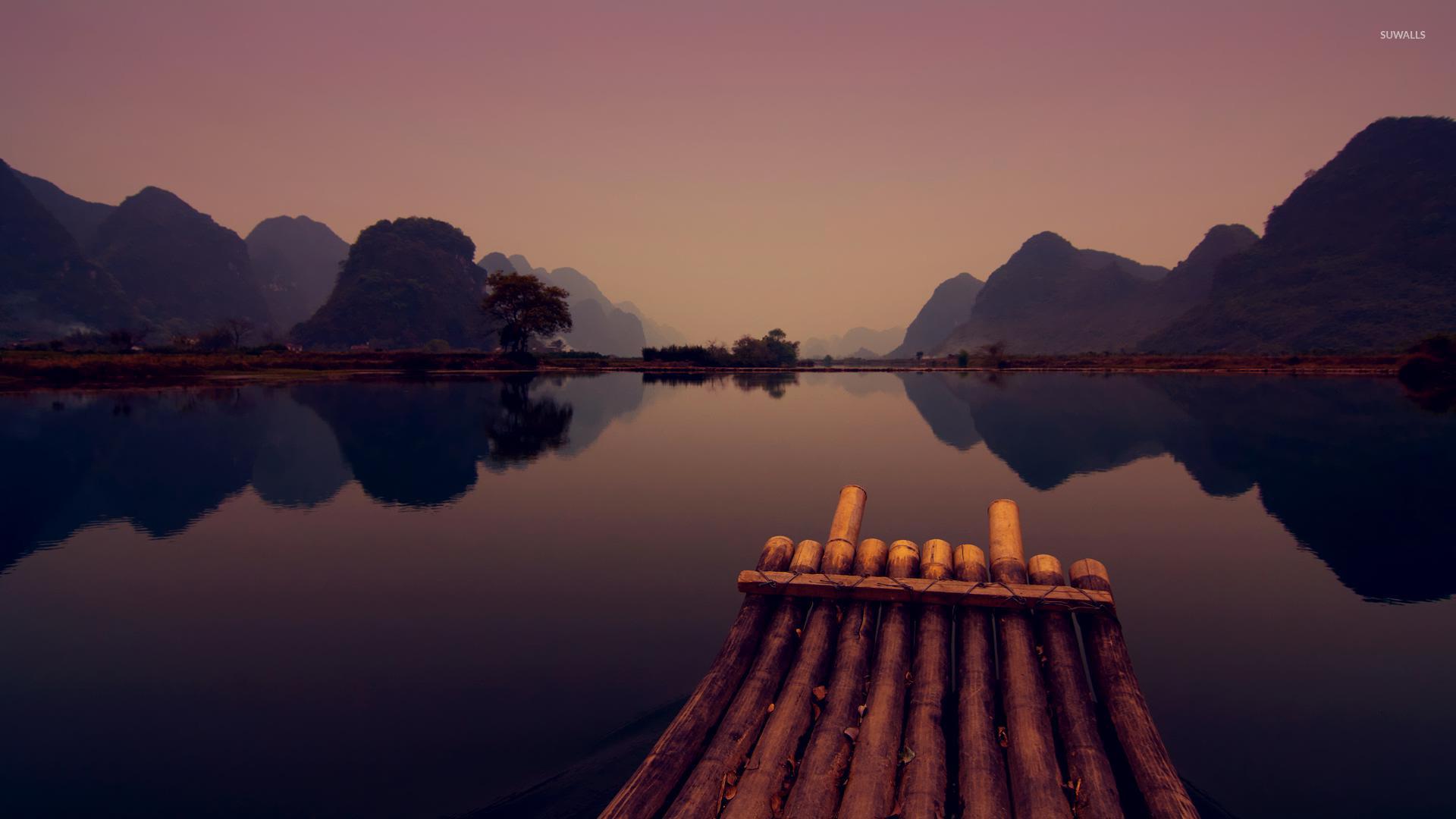 Raft on lake wallpaper   Photography wallpapers   16324 1920x1080