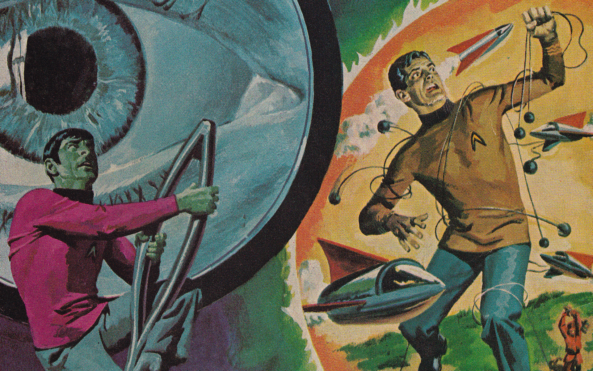 Vintage Star Trek Wallpaper By Futurephonic 1920x1200