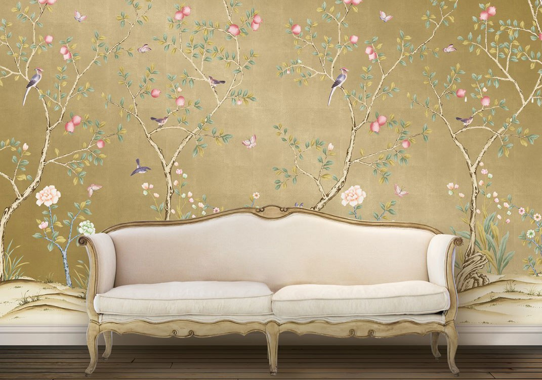 Affordable Temporary Chinoiserie Wallpaper   Vogue 1071x752
