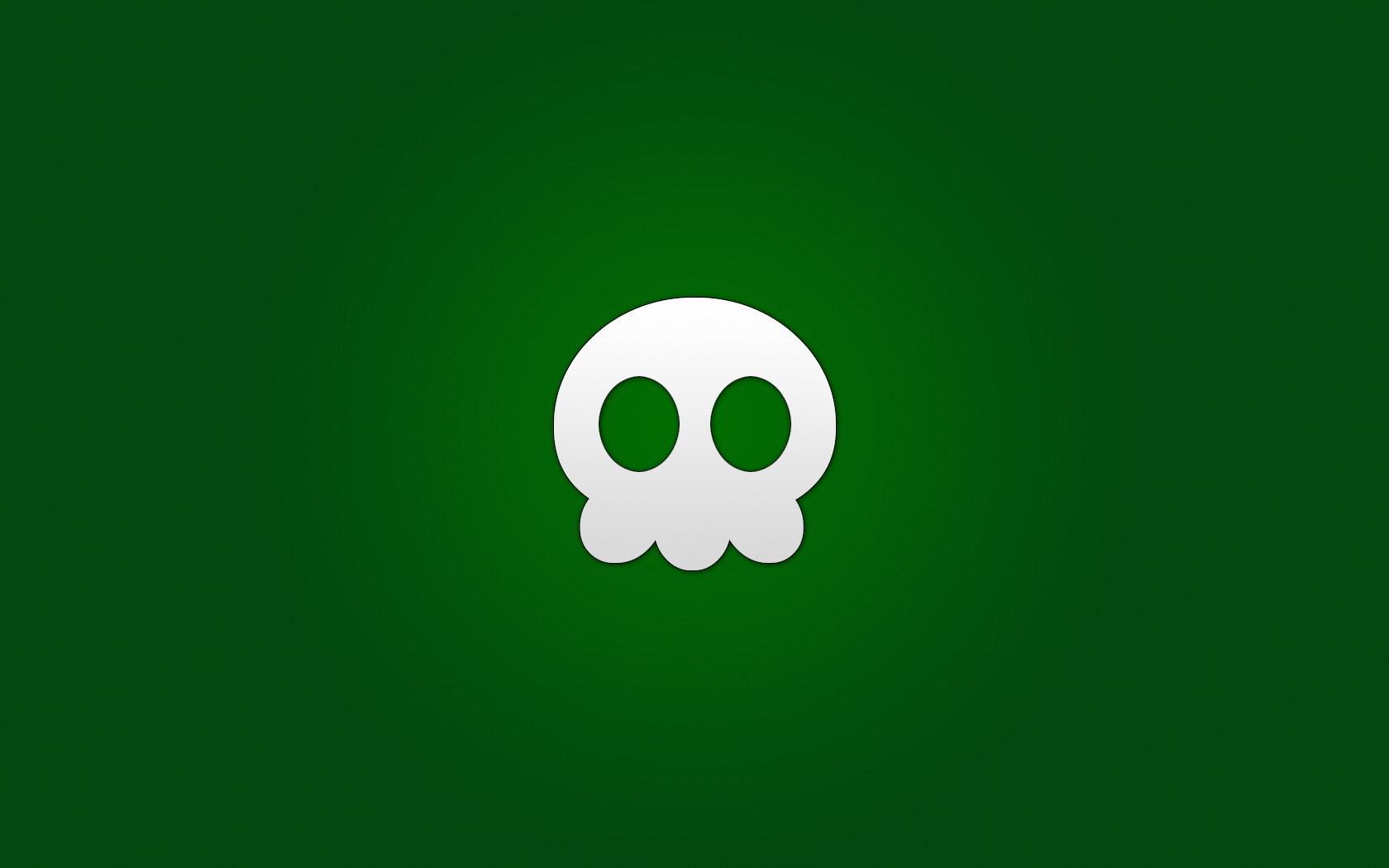 Skull on Green   Green Wallpaper 20988744 1680x1050