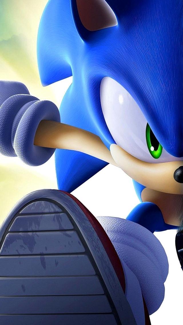 Sonic the Hedgehog running iPhone 5 Wallpaper 640x1136 640x1136