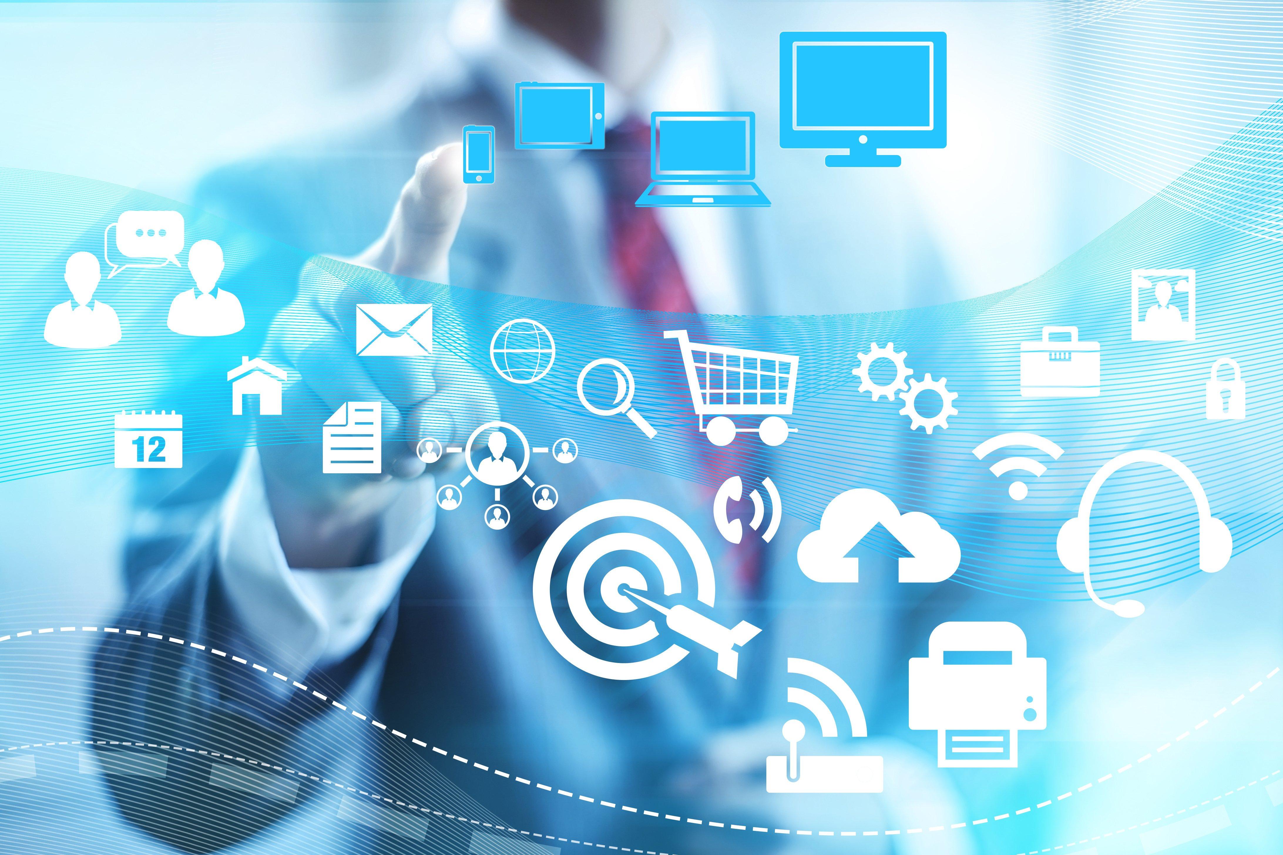 Internet technology business circuit computer wallpaper 4368x2912 4368x2912