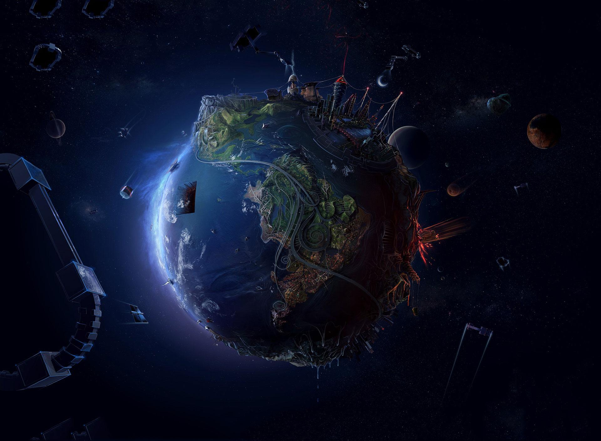 Future Earth wallpaper 1920x1408