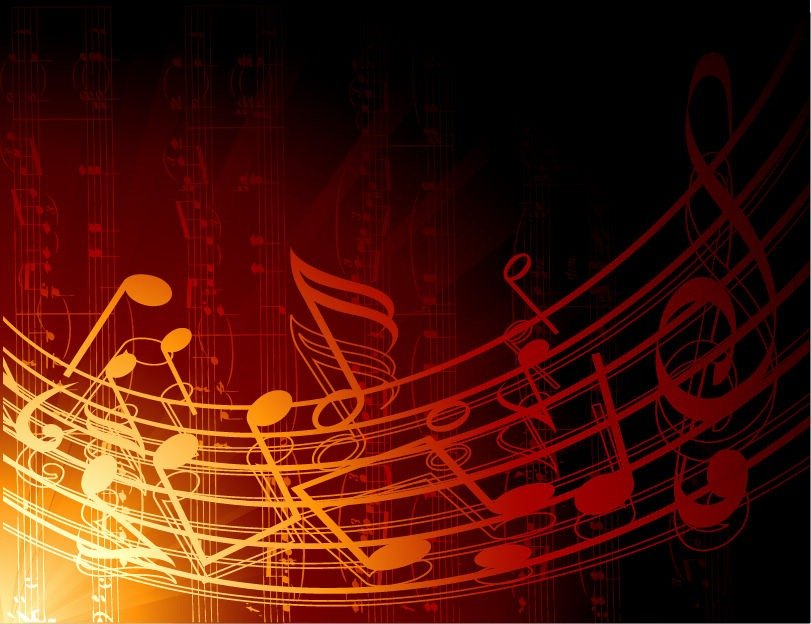 Name Abstract Music Background Vector Illustration 811x624