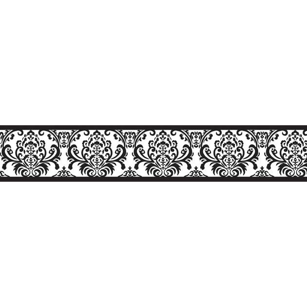 Black Wallpaper Border Isabella Black And White Wallpaper Border 630x630