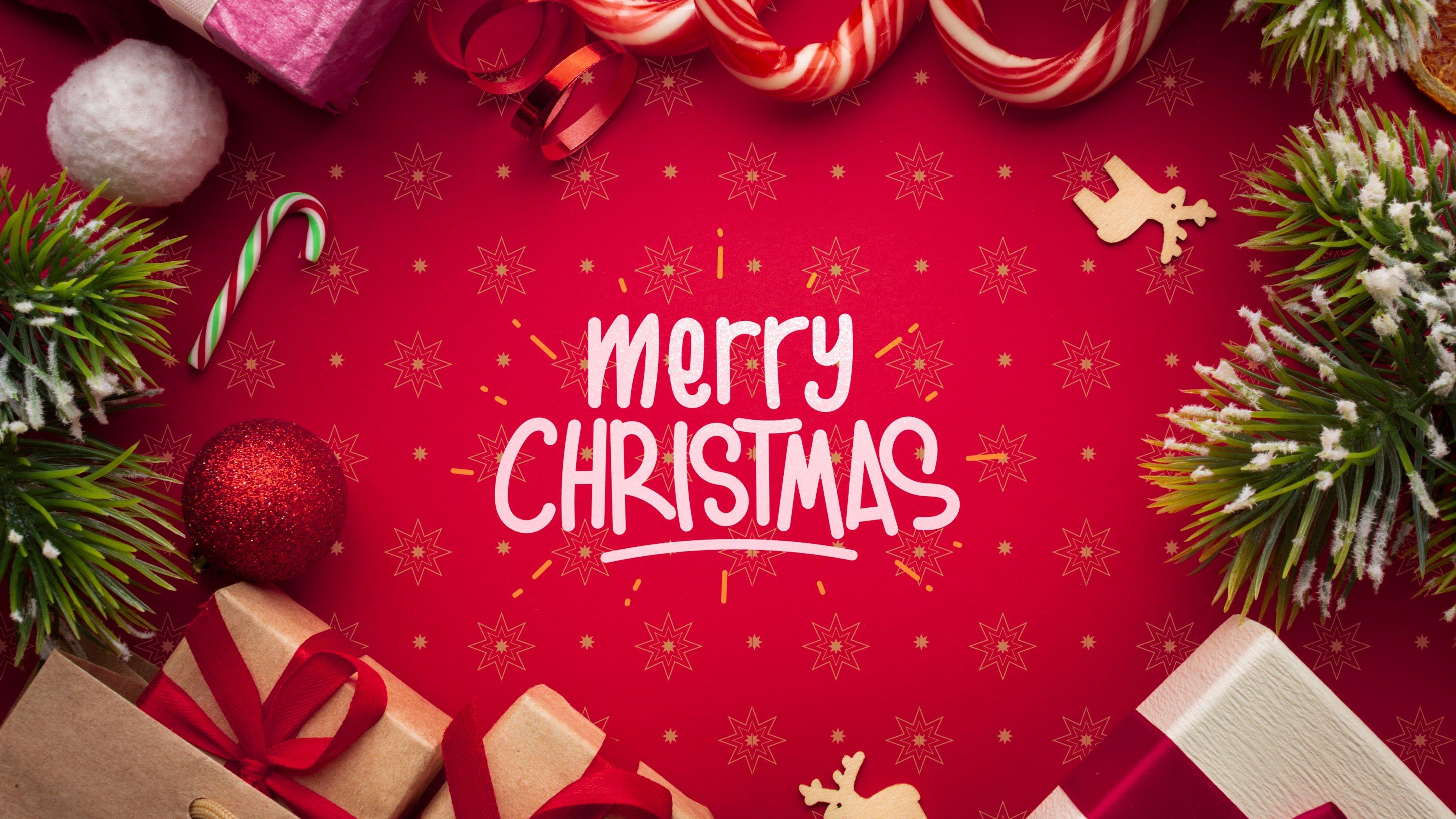 Merry Christmas Wallpaper High Resolution   Image 3840x2160