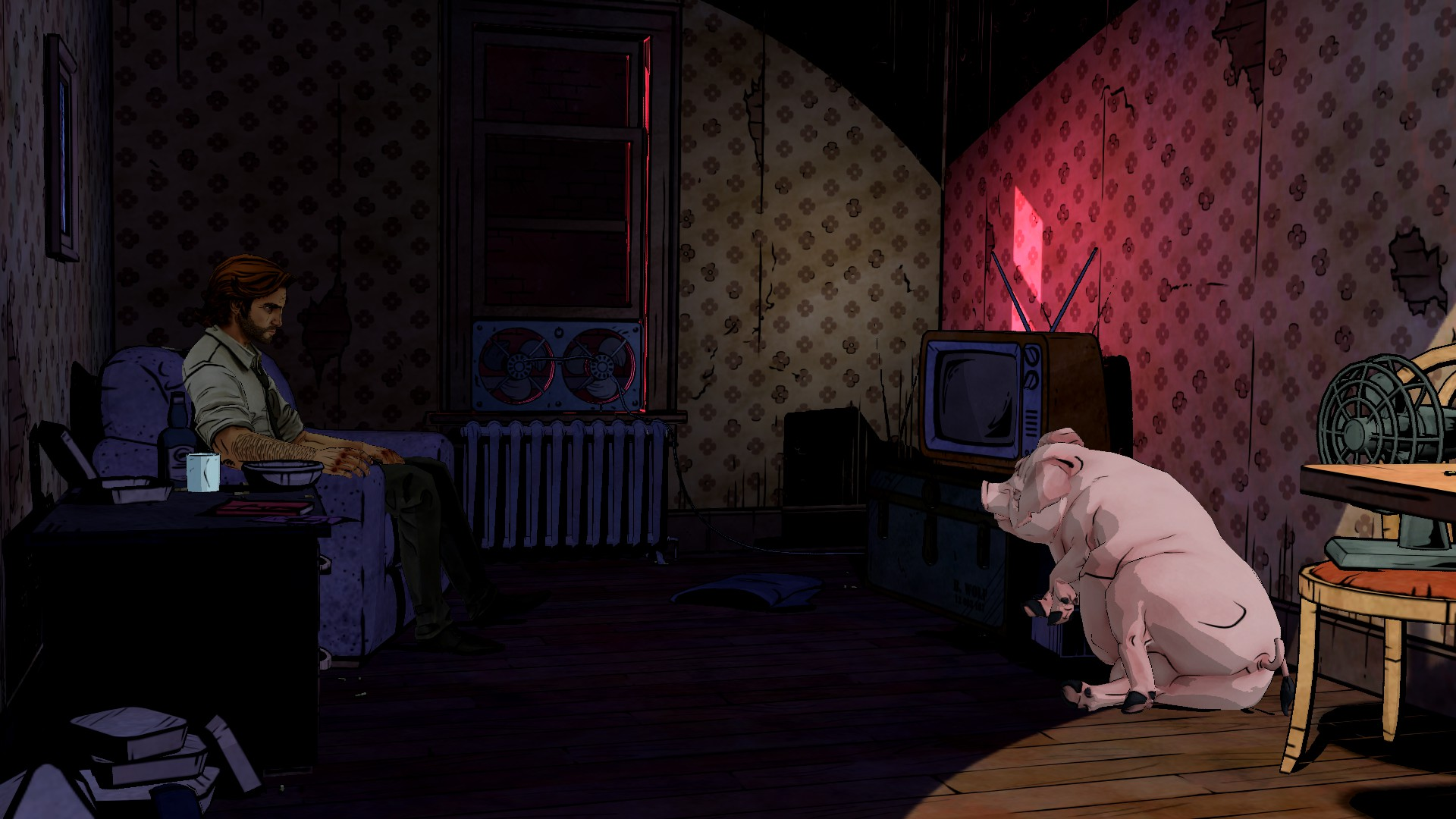 THE WOLF AMONG US game pig wallpaper background 1920x1080