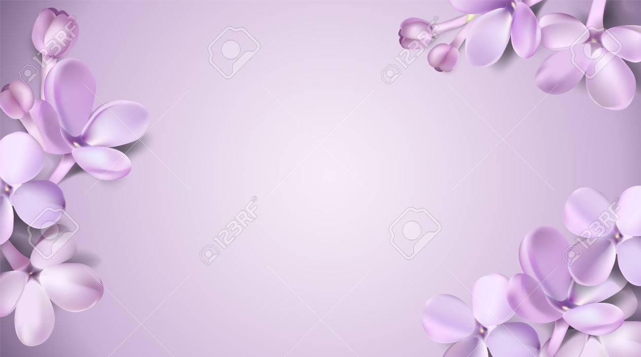 Soft Pastel Color Floral 3d Illustration On Violet Background 1300x725