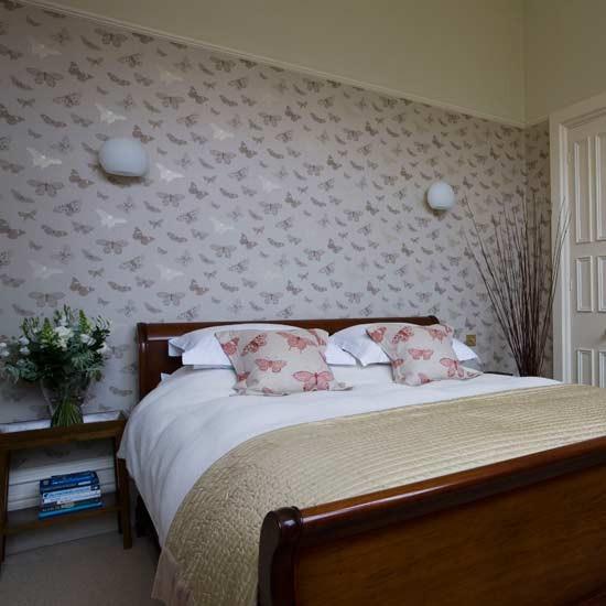 Butterfly bedroom Feminine bedroom Statement wallpaper 550x550