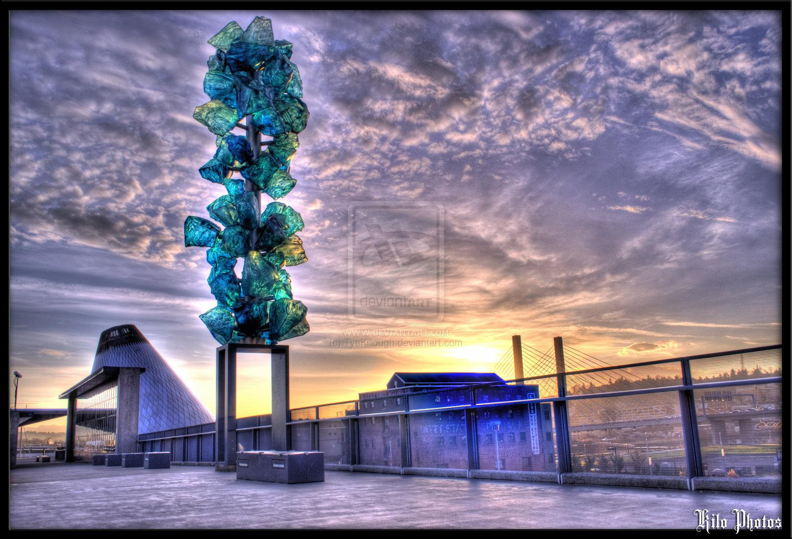 Glass Art Downtown Tacoma Washington by TyeKillough 1600x1089