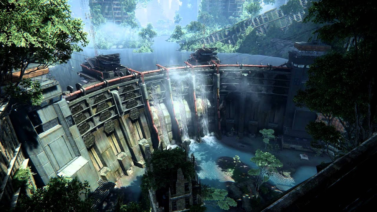Crysis 3 Hydroelectric Dam Video Desktop Wallpaper 1280x720