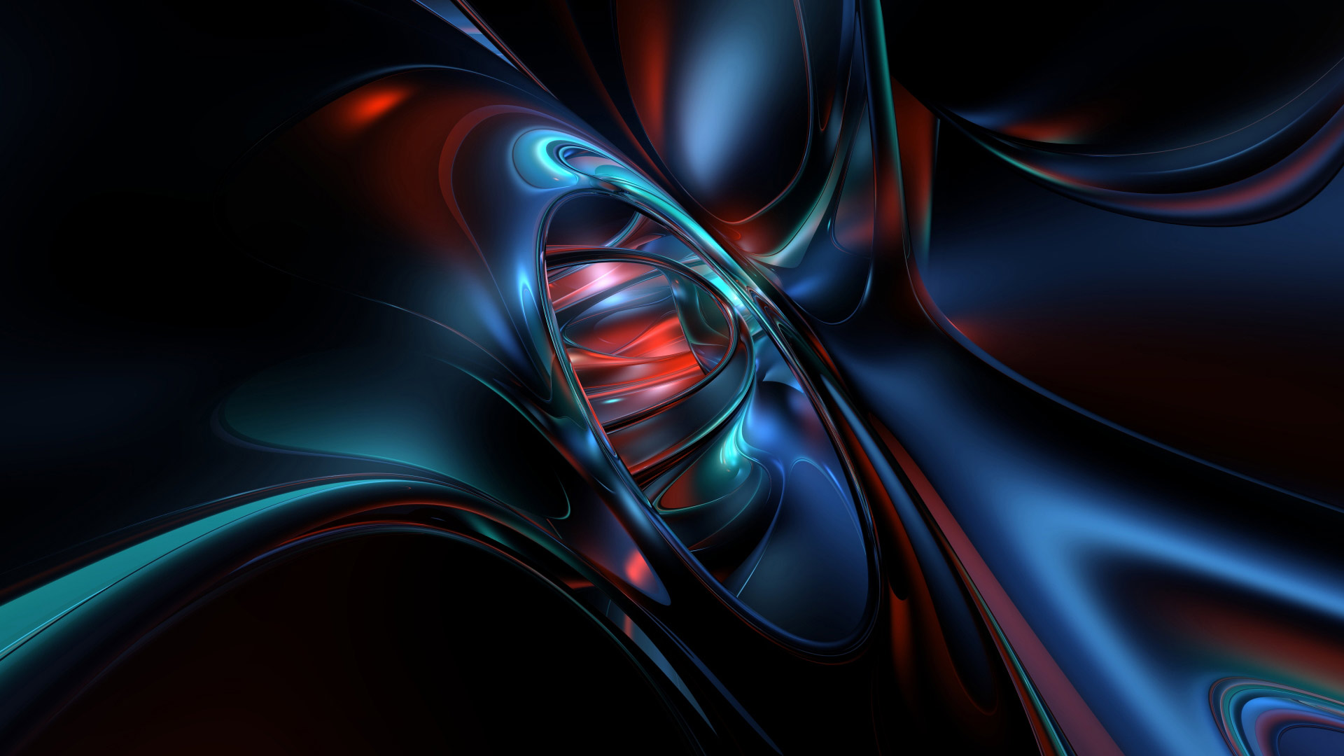 com Blue Red Teal and Black Abstract Wallpaper 1920x1080