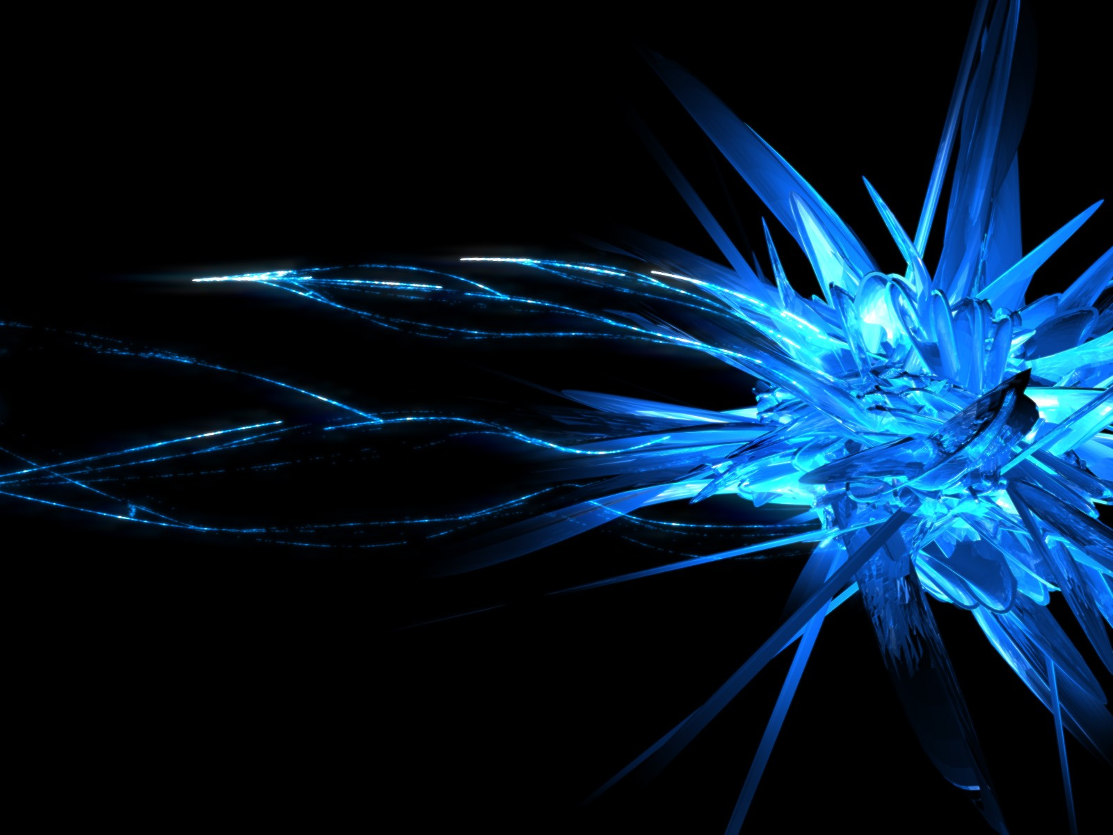 Blue crystal wallpaper wallpapersafari - Desktop wallpaper 1600x1200 ...