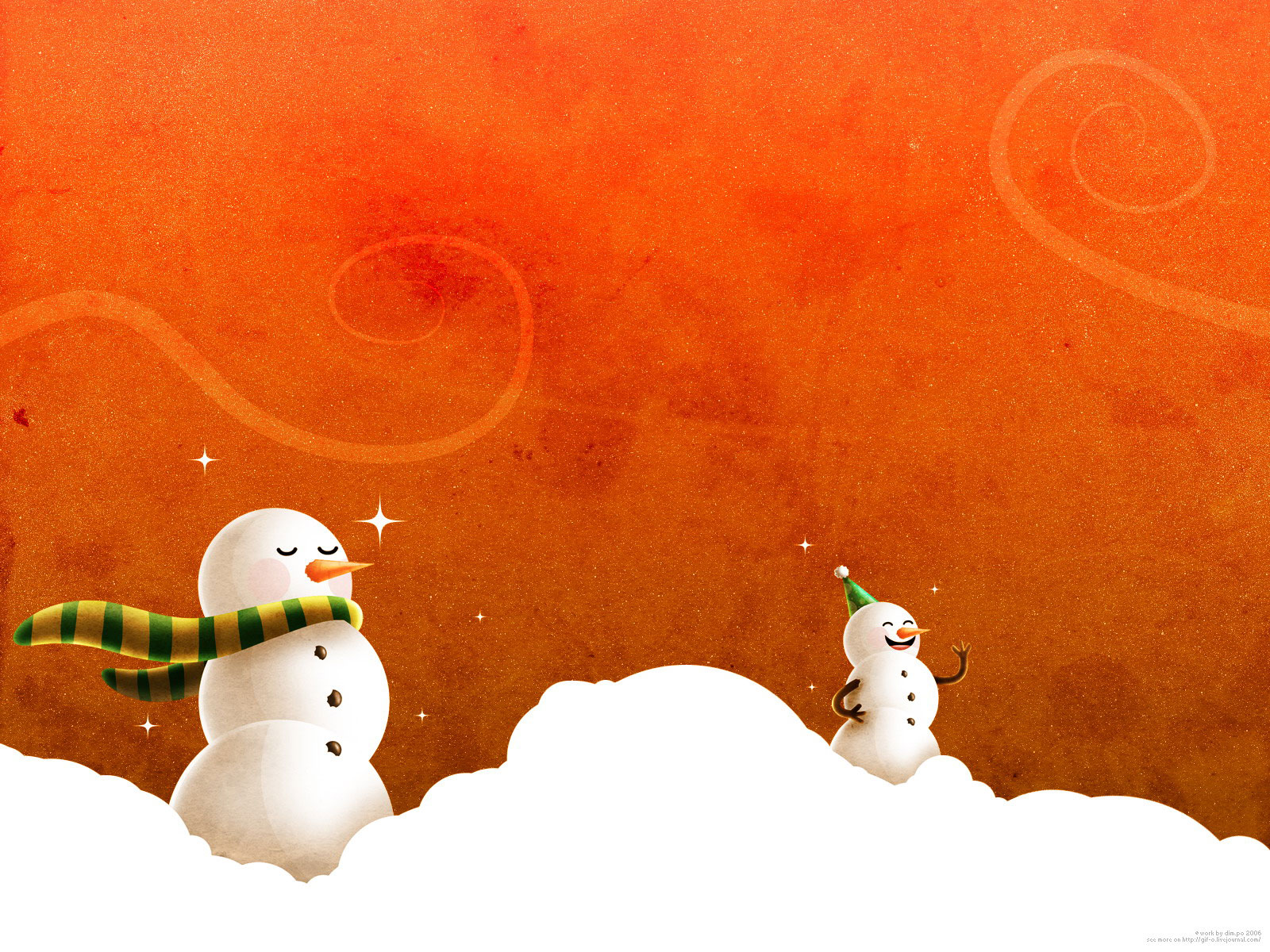 Christmas Cartoon Wallpapers 1600x1200