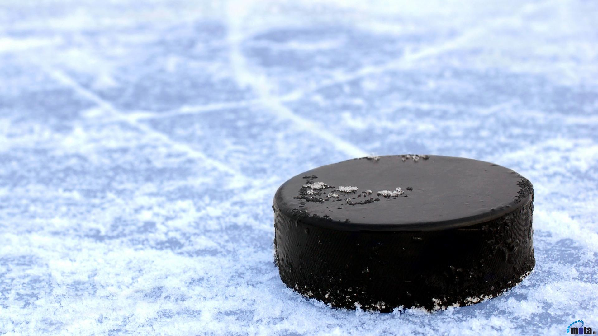 Wallpaper Hockey puck on ice 1920 x 1080 HDTV 1080p Desktop 1920x1080
