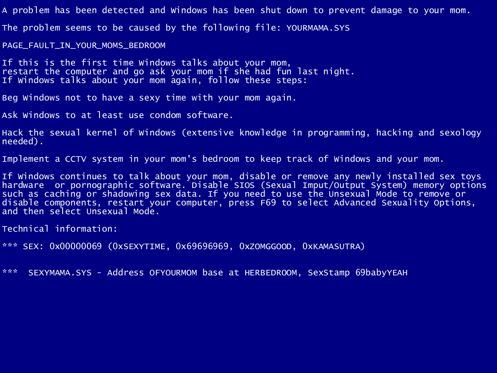 how to fix a blue screen The blue screen of death in windows 8 along with four error-dependent values in parentheses that are there to help software engineers fix the problem.
