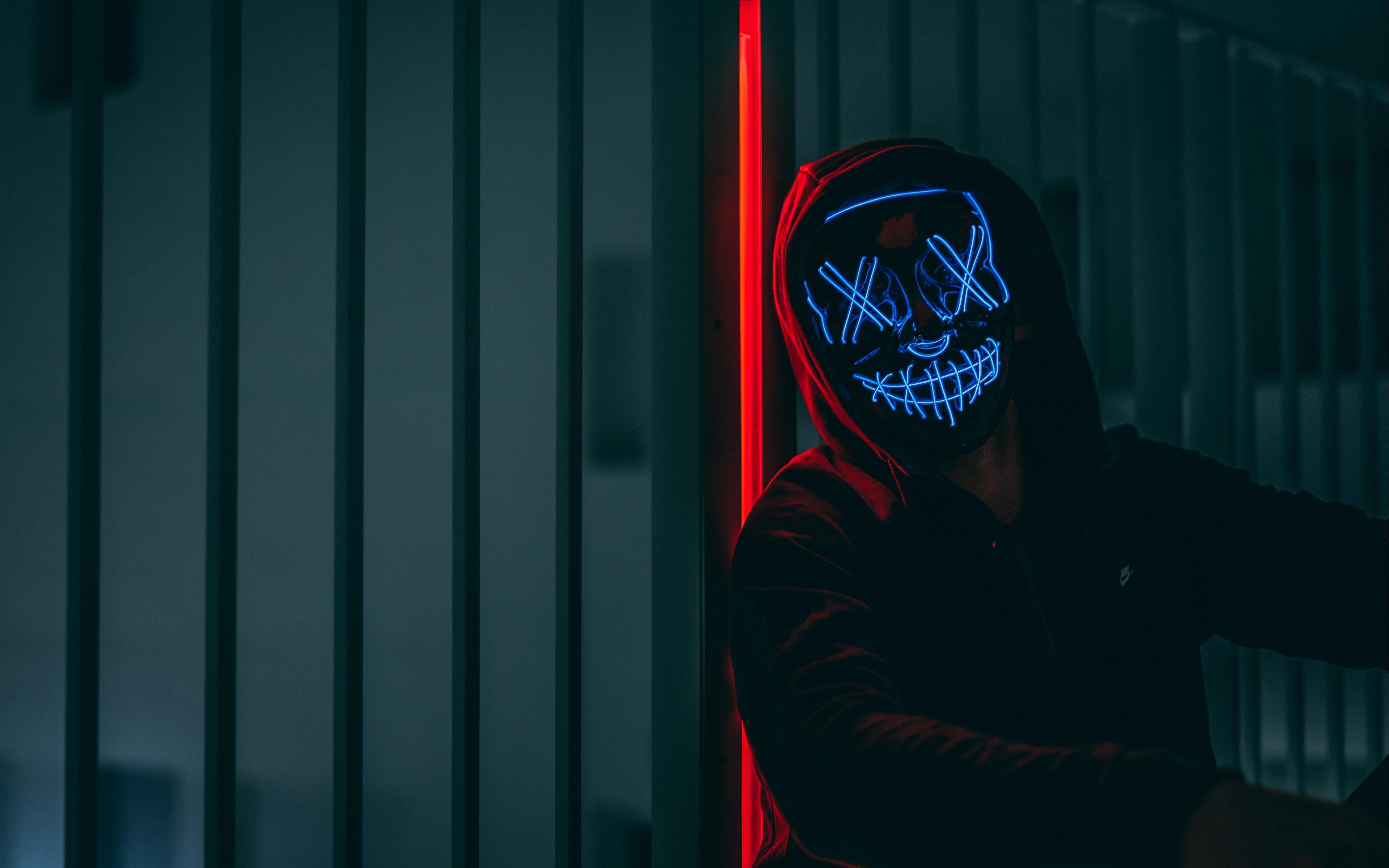 18 Neon Mask Wallpapers On Wallpapersafari