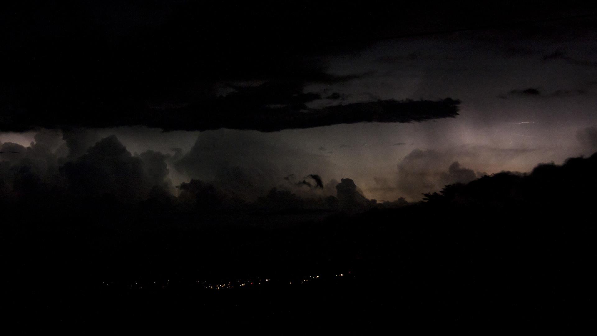 Distant Thunderstorm desktop wallpaper 1920x1080