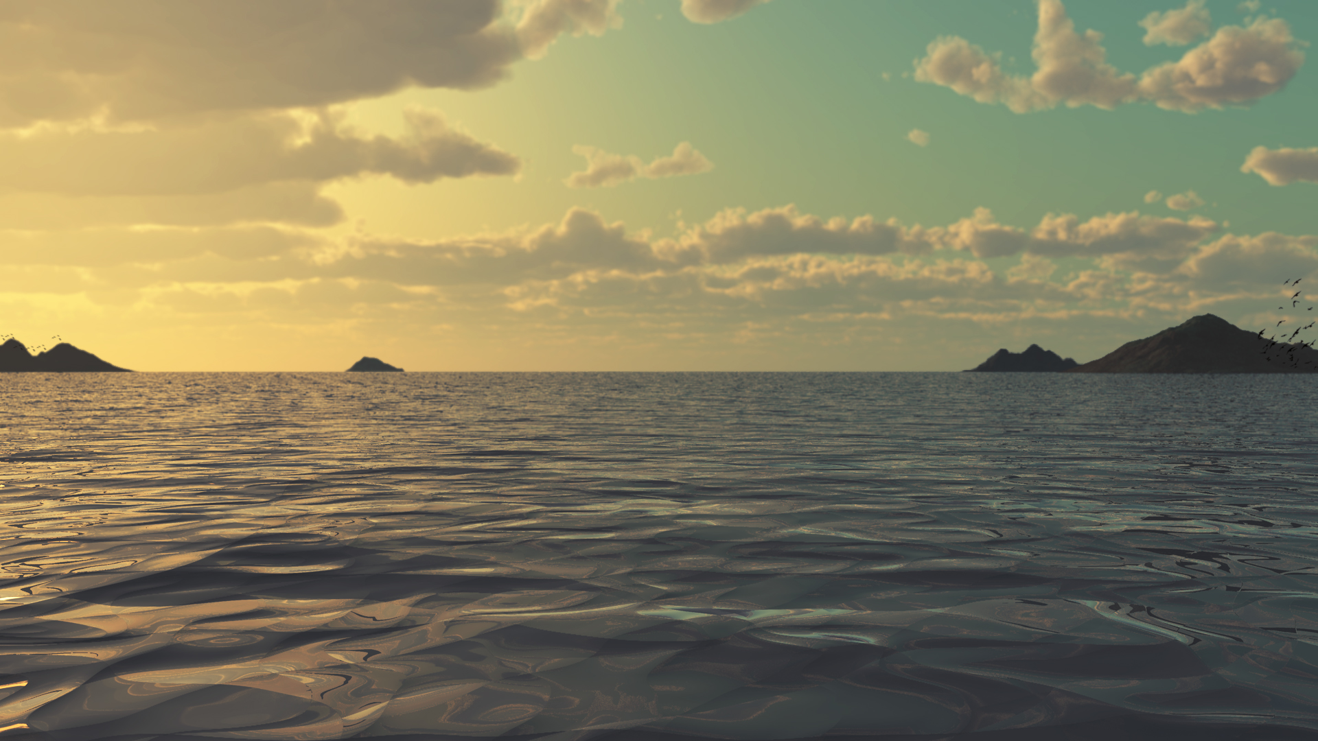 Wallpaper Ocean Scenes Wallpaper Ocean Scenes at Sunset 1920x1080