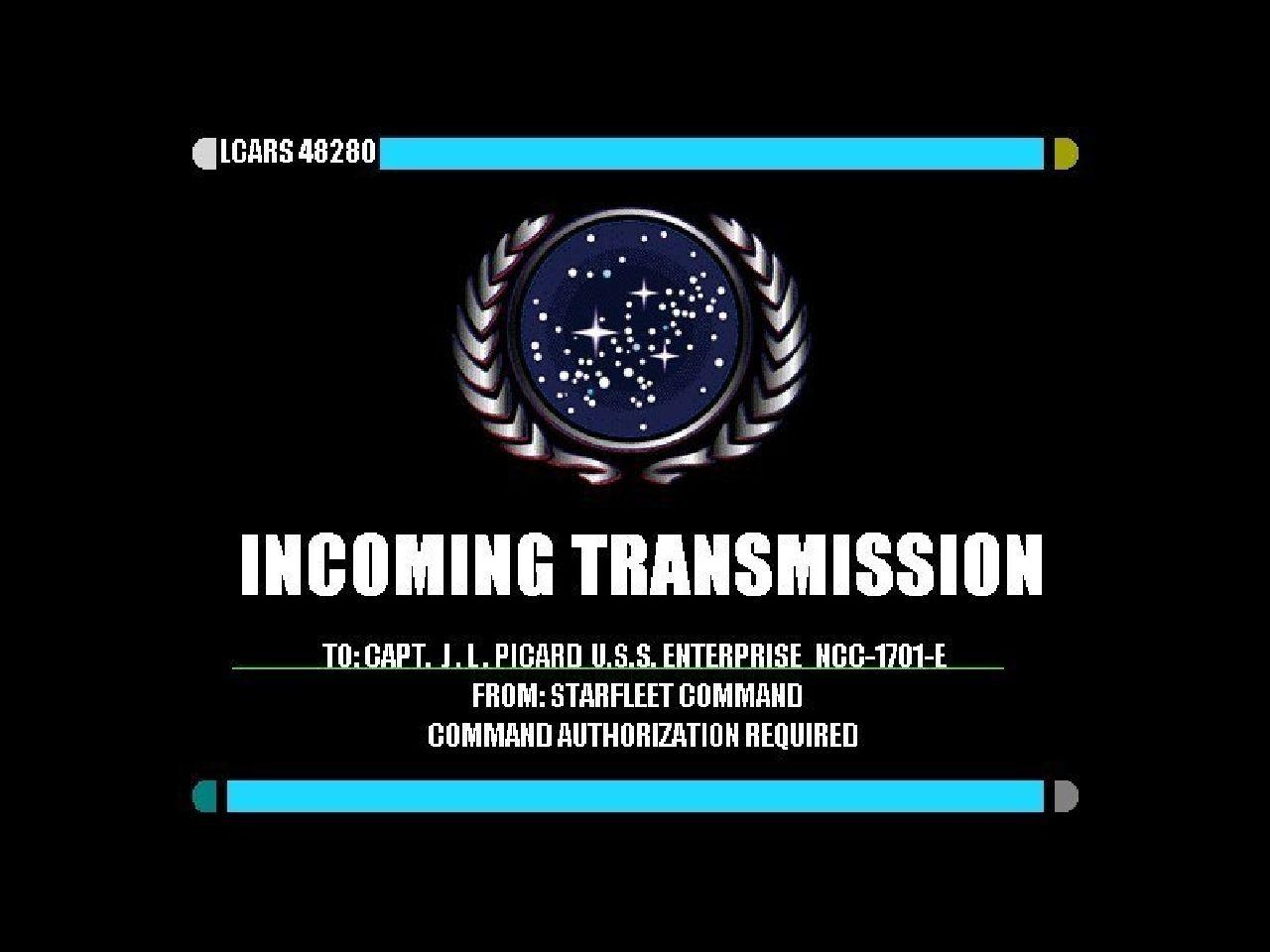 Star Trek Incoming Transmission Wallpaper Star Trek Star 1280x960
