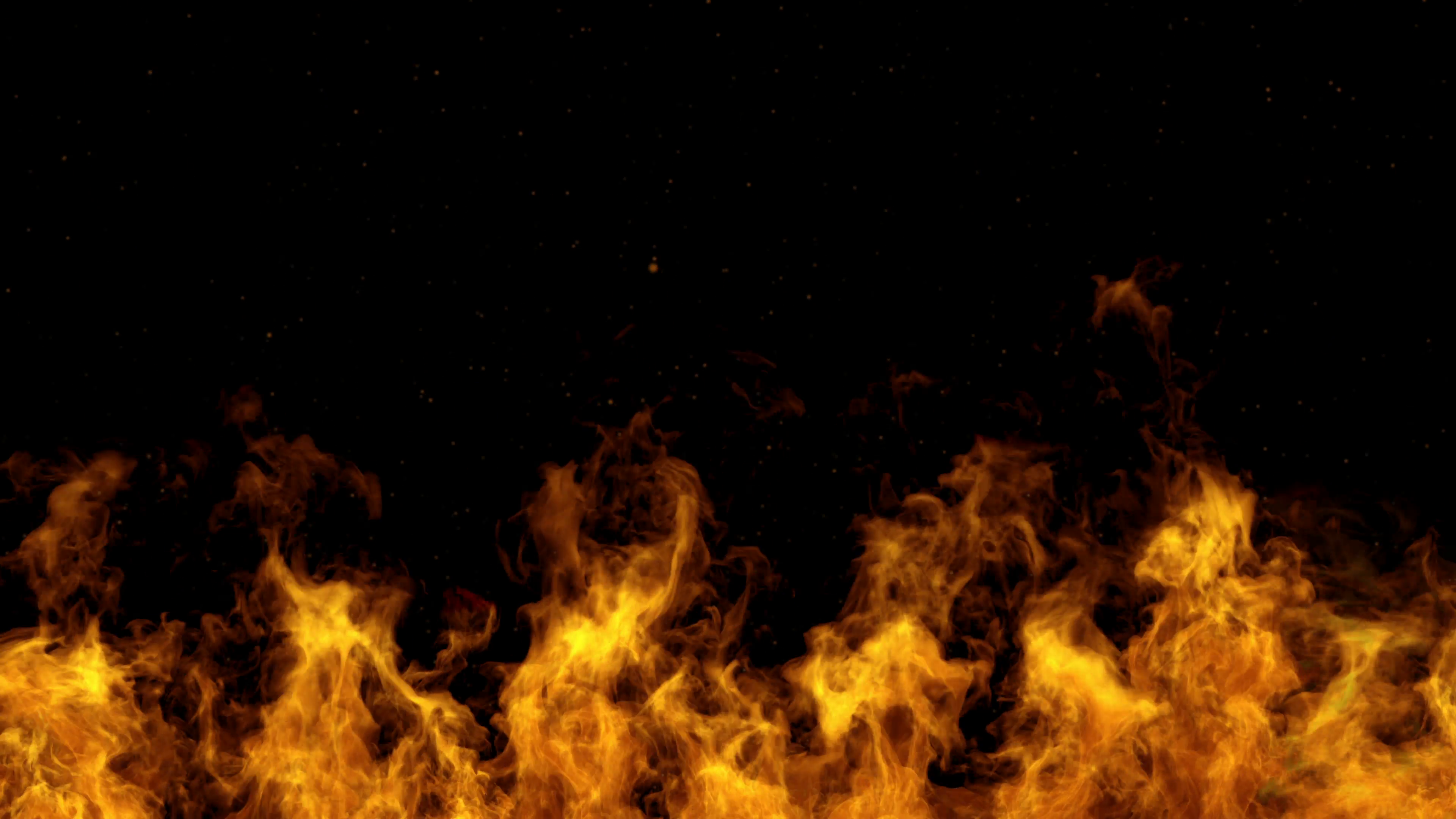 4K Detailed fire background seamless loop ultra Hd slow motion 3840x2160