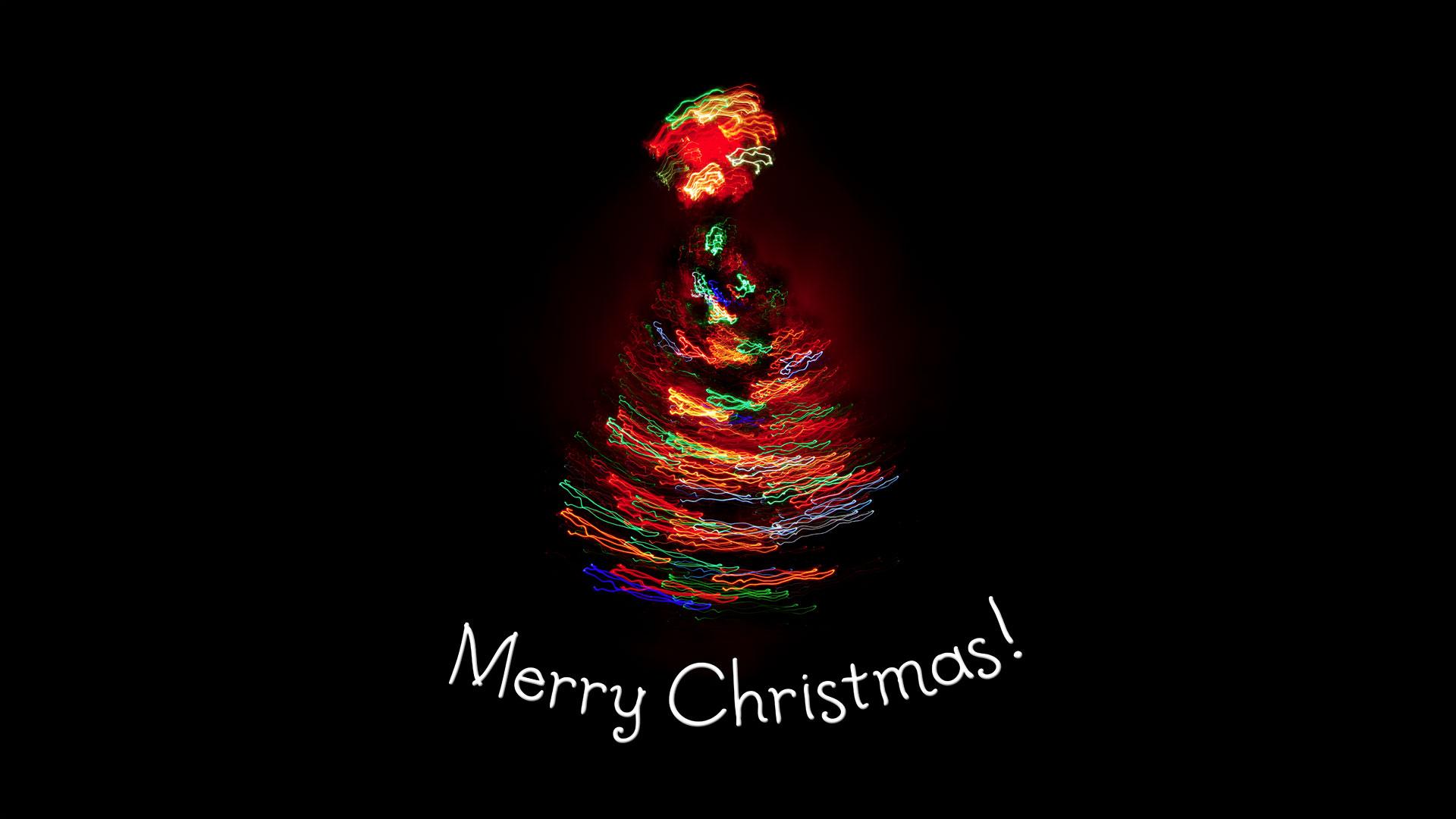 Christmas Tree Light Merry Desktop Themes Background wallpapers HD 1920x1080