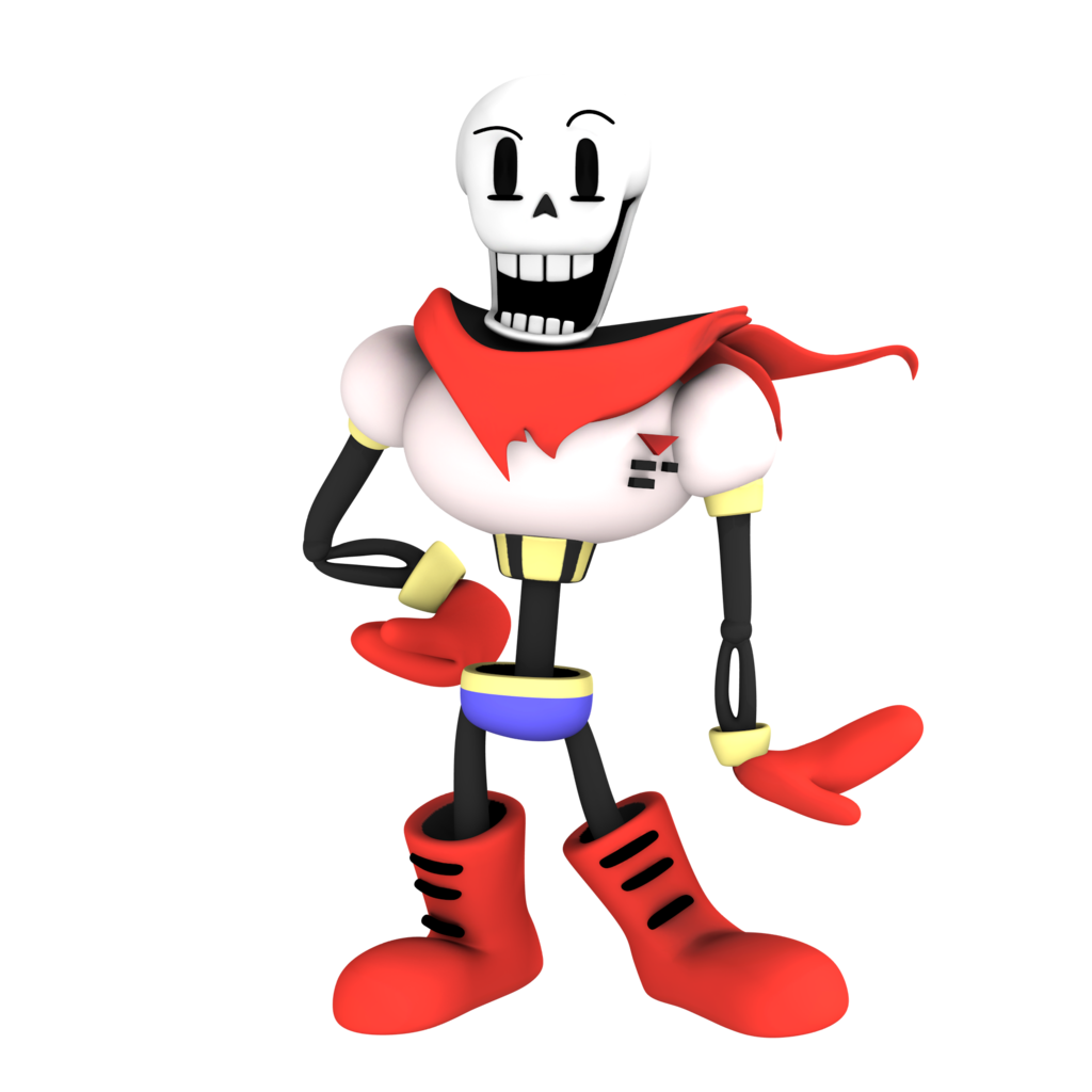 Papyrus from undertale render by Nibroc Rock 1024x1024