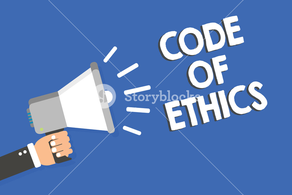 Text sign showing Code Of Ethics Conceptual photo Moral Rules 1000x667