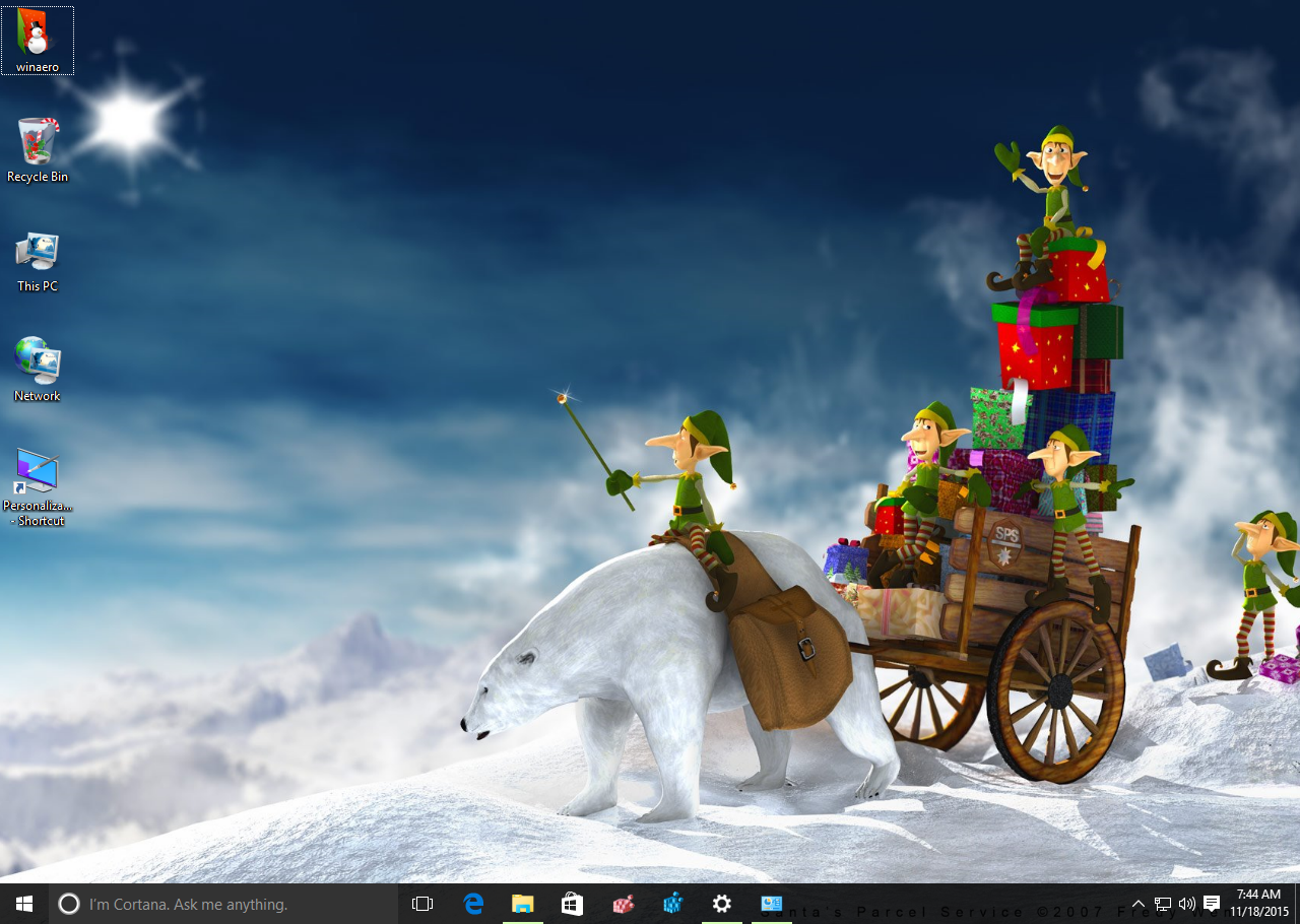 Free download New Year theme 2016 for Windows 10 Windows 7 and
