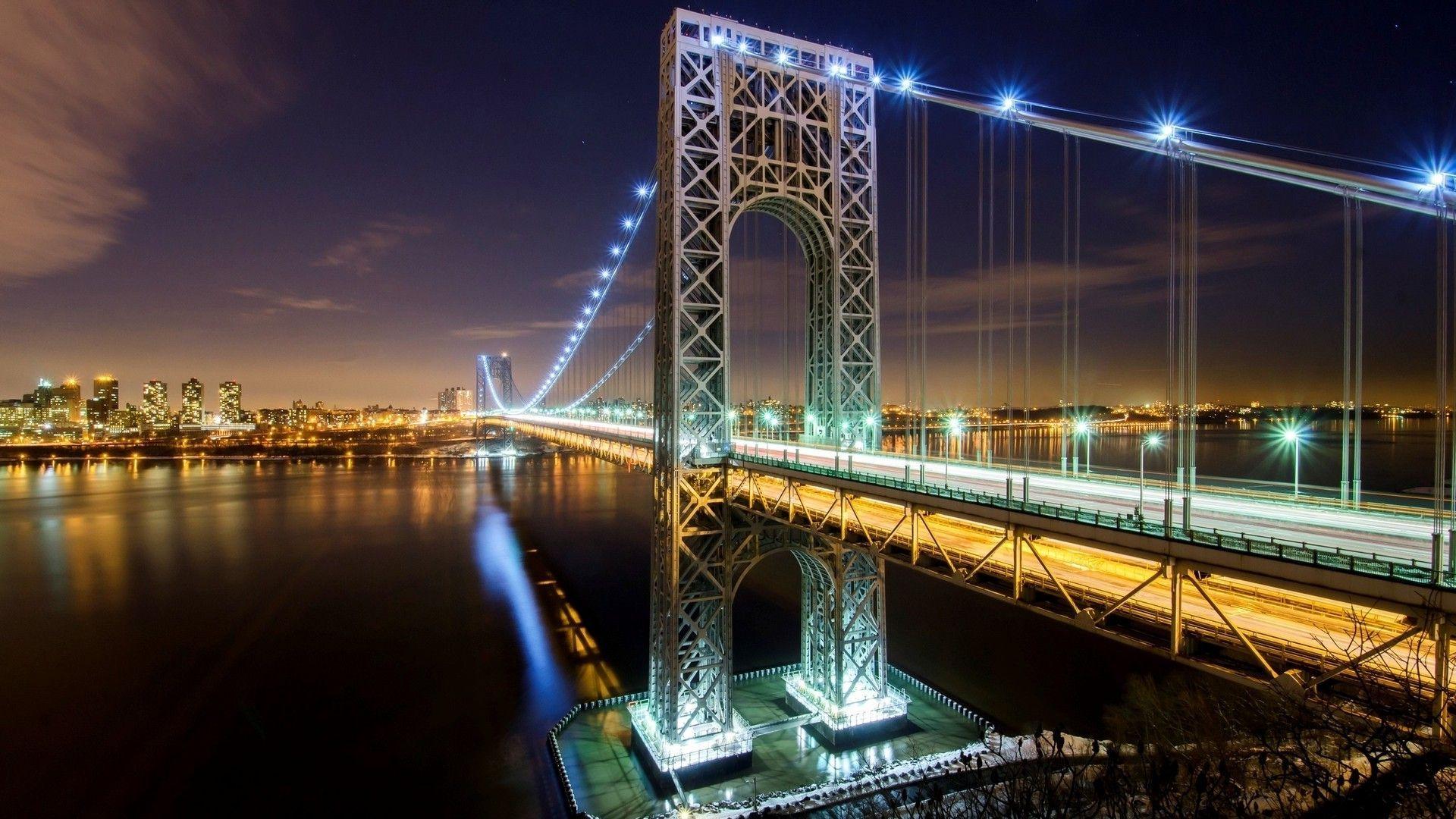 Download George Washington Bridge New York wallpaper 1206175 1920x1080