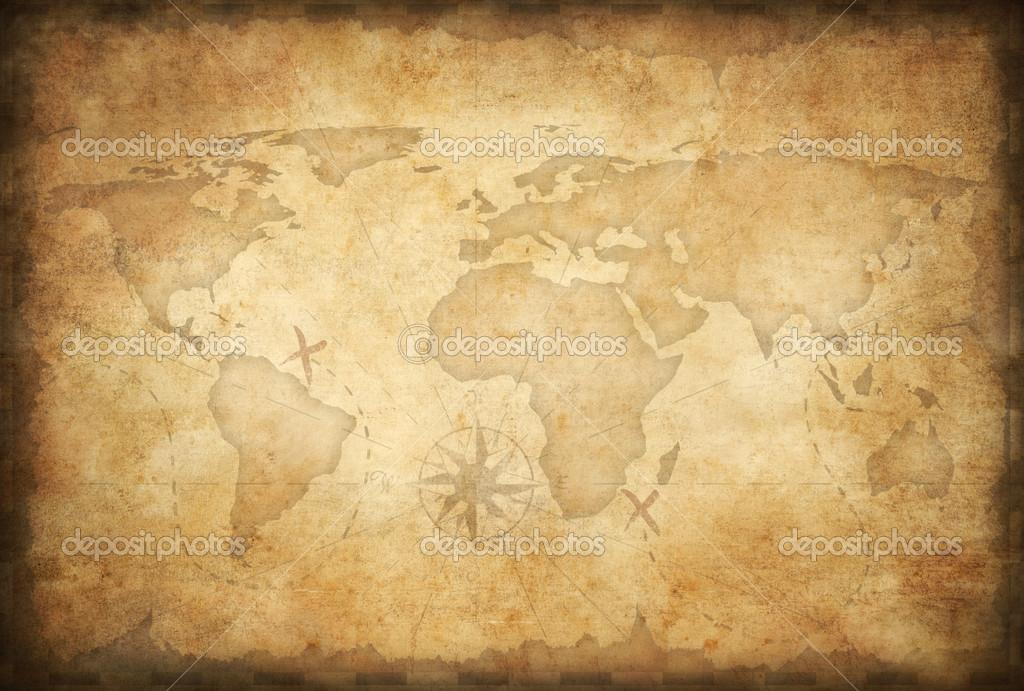 Фон карта старая