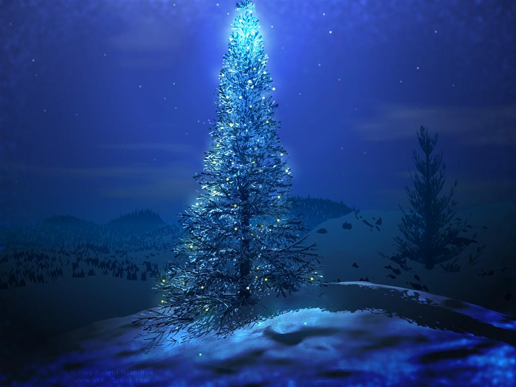 ChristmasHDdesktopwallpaperblue christmas tree wallpaperjpg 1024x768