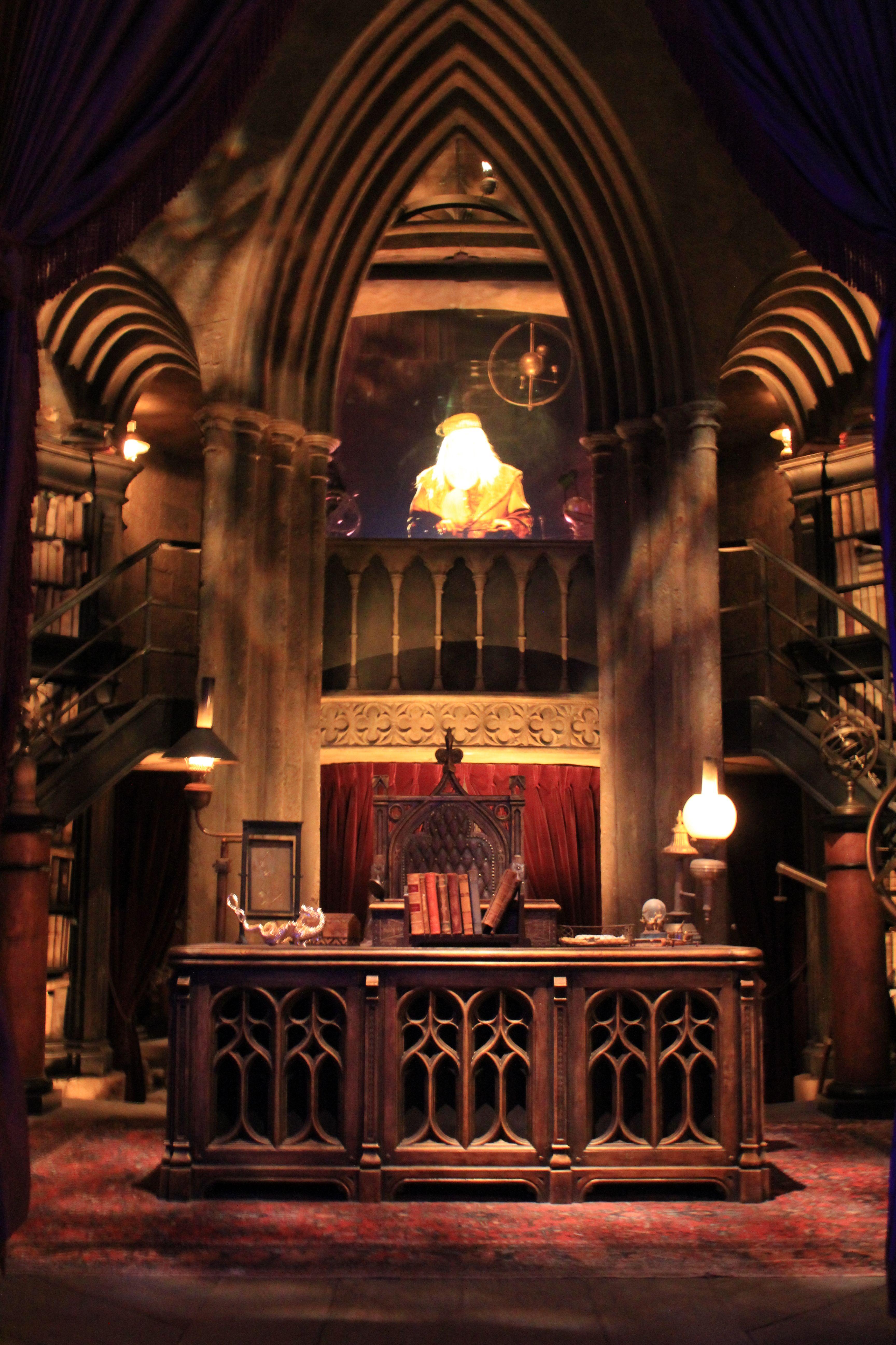 Dumbledores office inside Hogwarts at Universal Studios 3456x5184