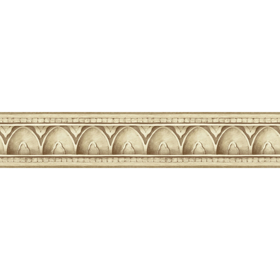 Beige Architectural Molding Prepasted Wallpaper Border at Lowescom 900x900