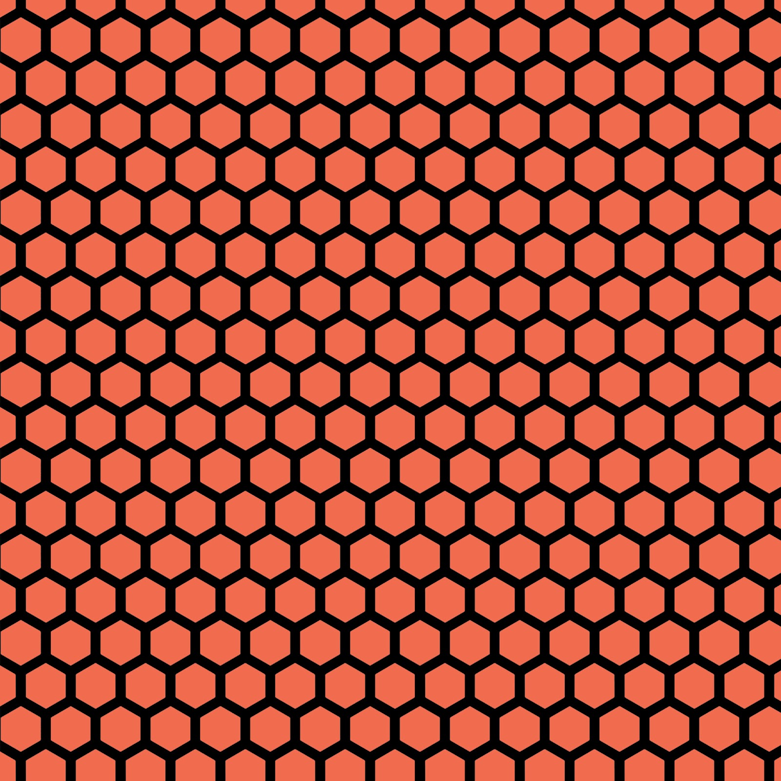 15 Colorful hues Hexagon Honeycomb Background Printables 1600x1600