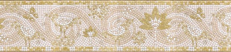 Bathroom Kitchen Mosaic Scrolls Birds Wallpaper Border IBB4110 eBay 770x175