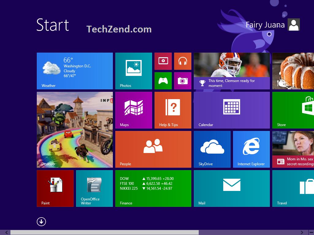 Modify Start Screen Background in Windows 81 with Decor8 1024x768