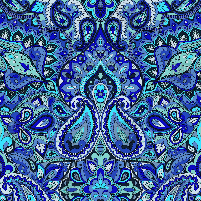 Navy Blue Paisley Wallpaper - WallpaperSafari