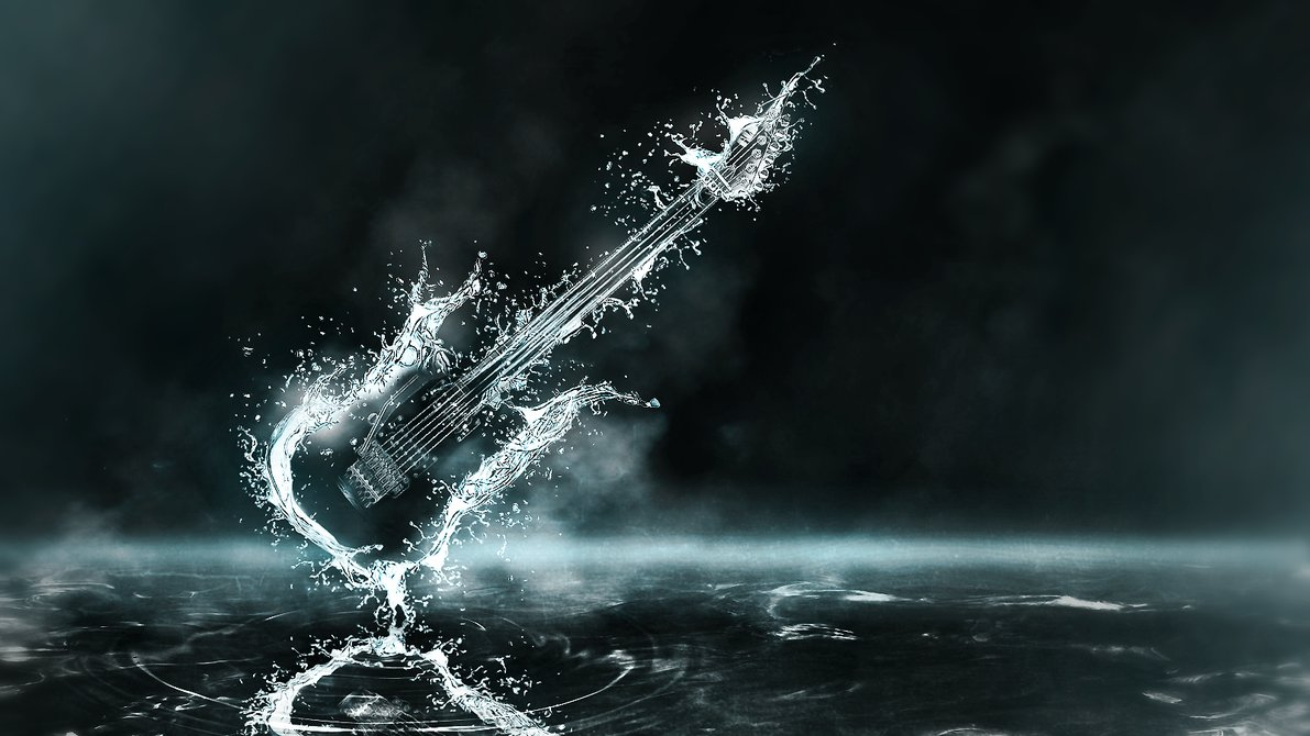 Hd wallpaper guitar - Awesome Guitar Drop Water Wallpaper Hd Wallpaper With 1191x670