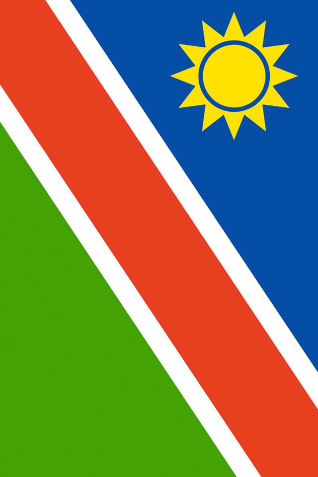 Namibia Flag iPhone Wallpaper HD 640x960