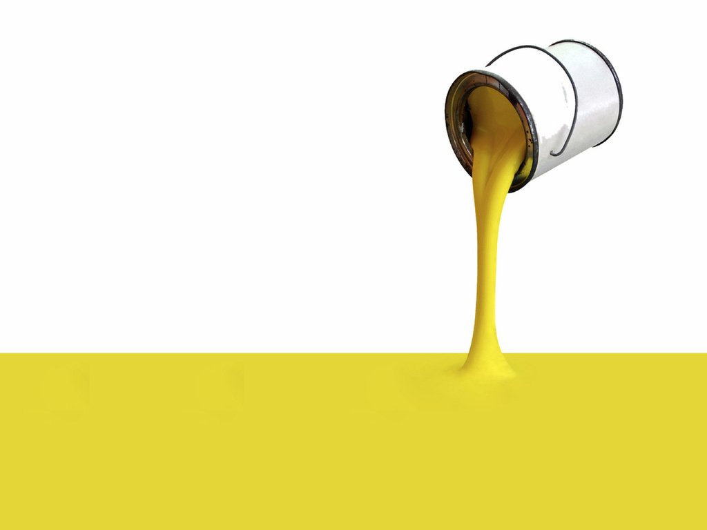 Droping yellow paint Download PowerPoint Backgrounds   PPT Backgrounds 1024x768
