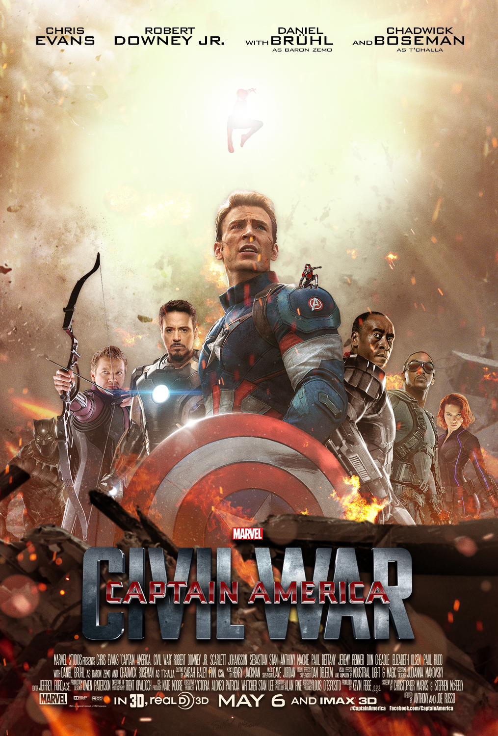 Captain America Civil War Poster by TouchboyJ Hero by sahinduezguen 1015x1500
