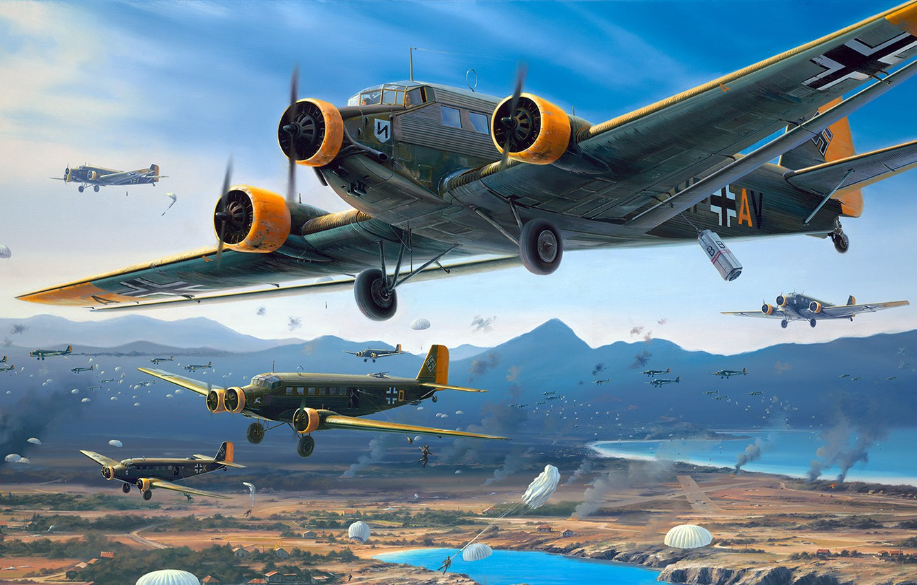 Wallpaper Junkers military transport aircraft engine Ju 52 The 1332x850