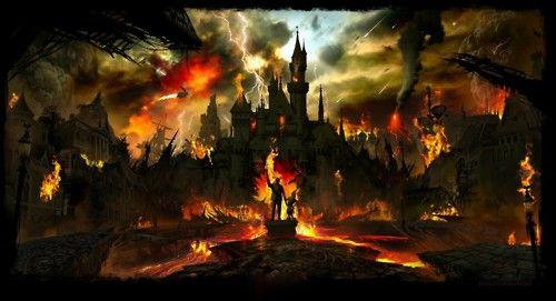 Post apocalyptic Disneyland wallpaper Illustration Pinterest 500x271