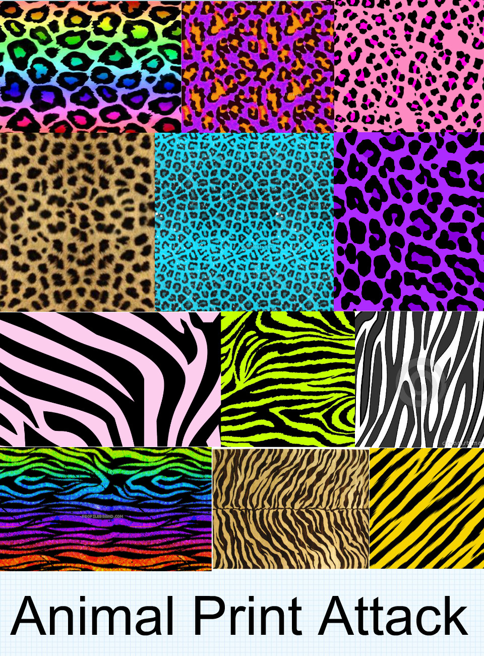 Colorful Cheetah Wallpapers - WallpaperSafari Multi Colored Zebra Print Wallpapers